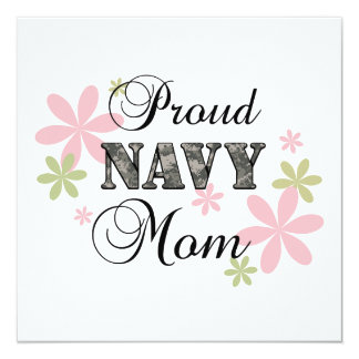 Proud Navy Mom [fl c] Card
