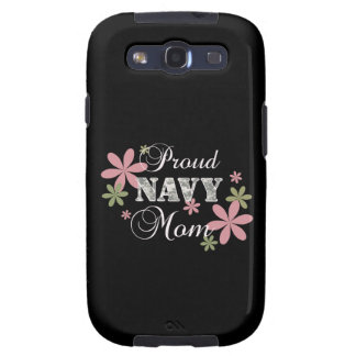 Proud Navy Mom fl c Samsung Galaxy S3 Cover