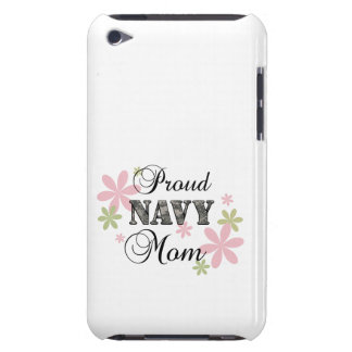Proud Navy Mom fl c Barely There iPod Cover