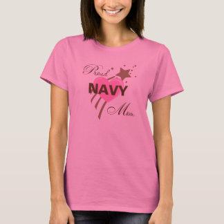Proud Navy Mom Heart T-Shirt