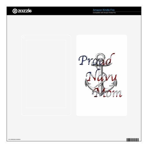 Proud Navy Mom Kindle Skin
