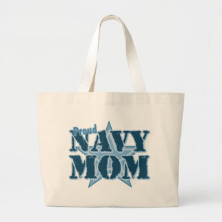 Proud Navy Mom Large Tote Bag