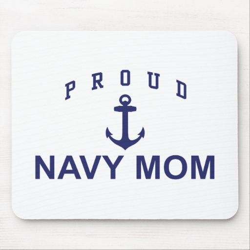 Proud Navy Mom Mouse Pad