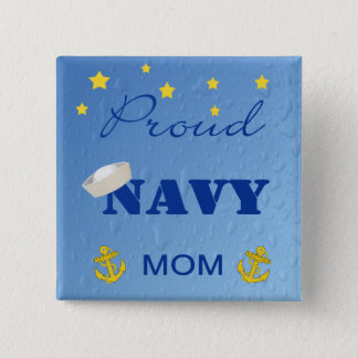 Proud Navy Mom Pinback Button