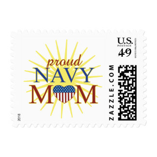 Proud Navy Mom Postage Stamps