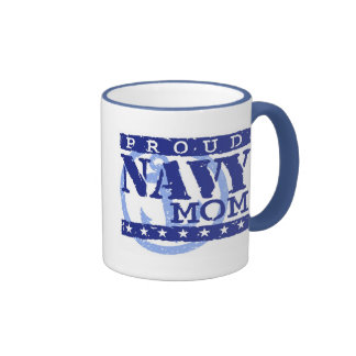 Proud Navy Mom Ringer Mug