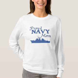 Proud Navy Mom Ship T-Shirt