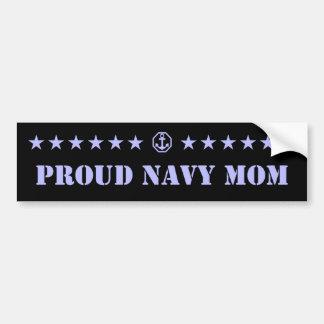 Proud Navy Mom Stars Bumper Sticker