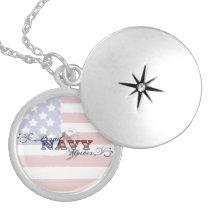 Proud Navy Mother Patriotic Necklace