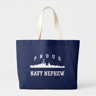Proud Navy Nephew Canvas Bags