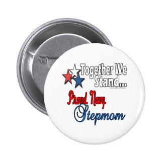 Proud Navy Stepmom 2 Inch Round Button