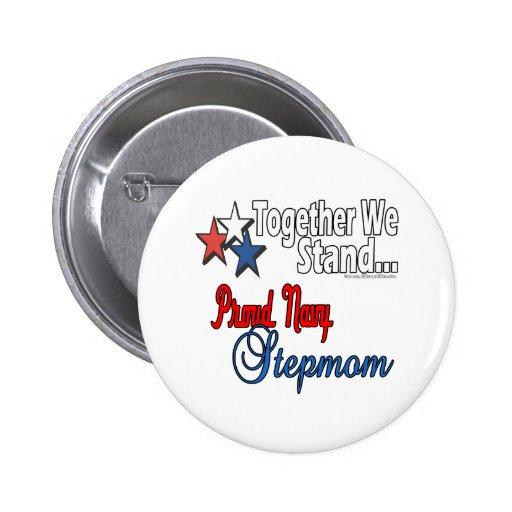 Proud Navy Stepmom Pinback Button