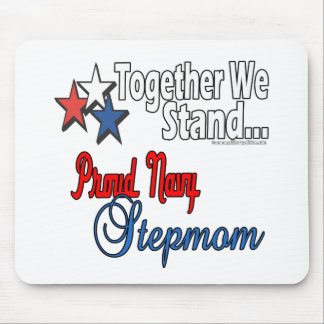 Proud Navy Stepmom Mouse Pad