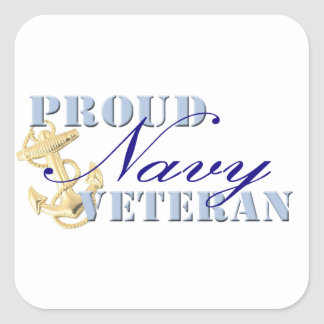 Proud Navy Veteran Stickers