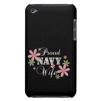 Proud Navy Wife fl c Barely There iPod Cover