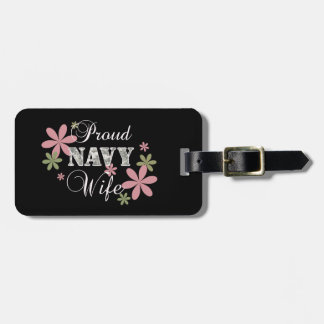 Proud Navy Wife [fl c] Luggage Tag