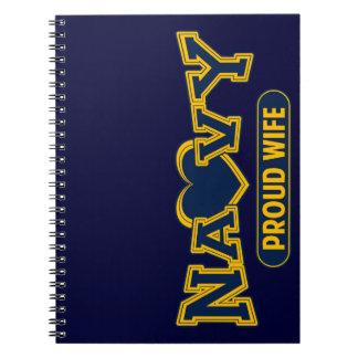 Proud Navy Wife Notebook