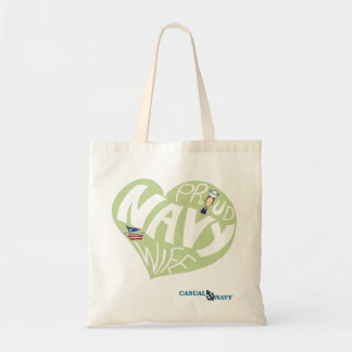 Proud navy wife - Olive Olive Tote