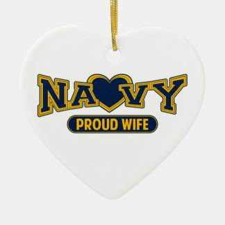 Proud Navy Wife Christmas Ornament
