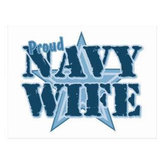 Proud Navy Wife Postcard