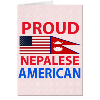 Proud Nepalese American Greeting Cards