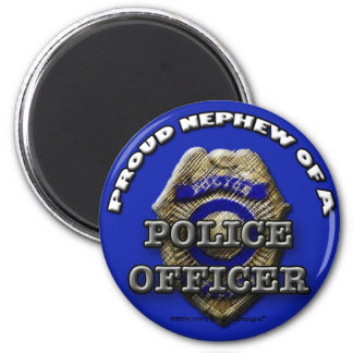 Proud Nephew of a Police Officer magnet