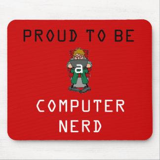 Proud Nerd Mousepad (red)