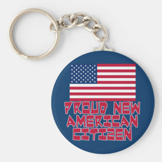 Proud New American Citizen Keychain