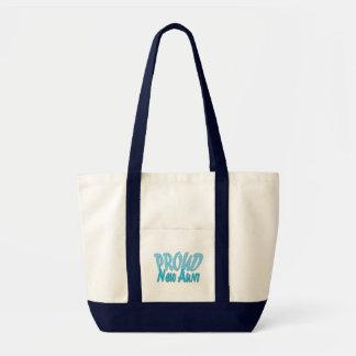 Proud New Aunt Blue Impulse Tote Bag