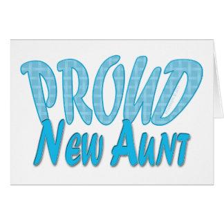Proud New Aunt Blue Card