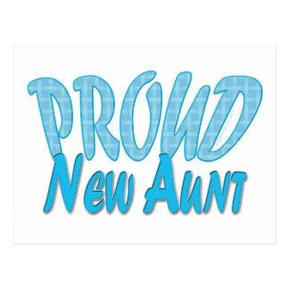 Proud New Aunt Blue Postcard
