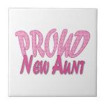 Proud New Aunt Pink Ceramic Tile