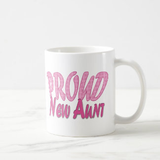 Proud New Aunt Pink Coffee Mug