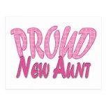 Proud New Aunt Pink Postcard