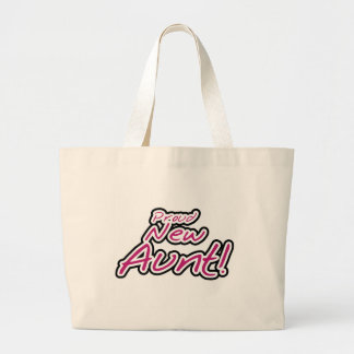 Proud New Aunt tshirts and Gifts Jumbo Tote Bag