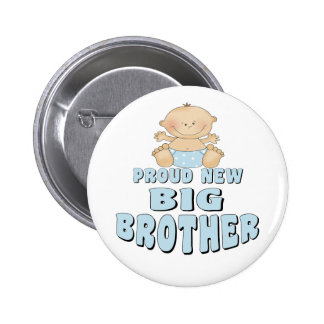 Proud New Big Brother Boy Pinback Button