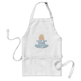 Proud New Big Brother Girl Adult Apron