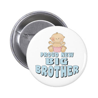 Proud New Big Brother Girl Pinback Button