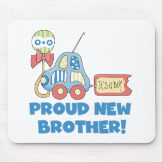 Proud New Brother It's a Boy Mouse Mat