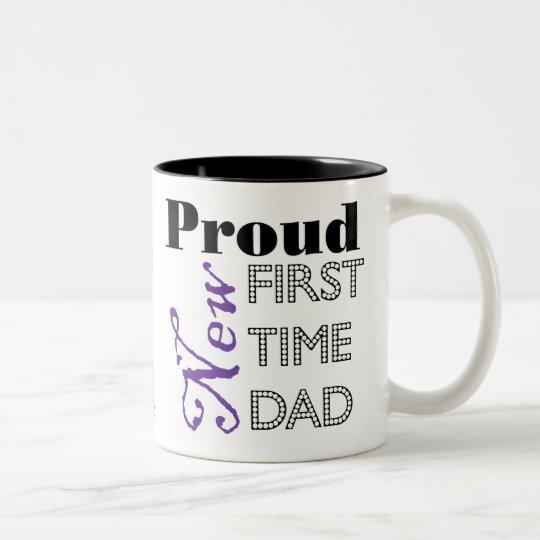 Proud New First Time Dad Photo Mug