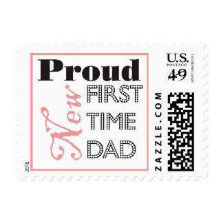 Proud New First Time Dad Postage