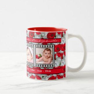 Proud New Godmother 4 Photo Mug Red Poppies
