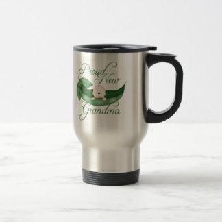Proud New Grandma 15 Oz Stainless Steel Travel Mug