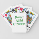 Proud New Grandma Bicycle Playing Cards