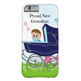 Proud New Grandma - Blue Barely There iPhone 6 Case