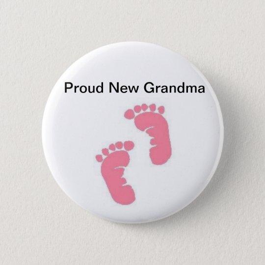Proud New Grandma Button