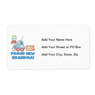 Proud New Grandma It's a Boy Gifts Shipping Label