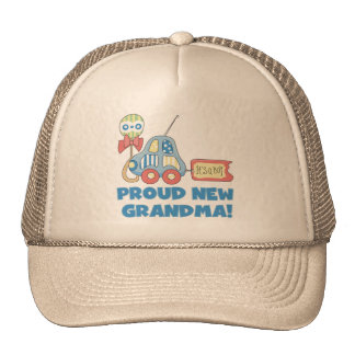 Proud New Grandma-It's a Boy Tshirts and Gifts Trucker Hats