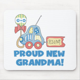 Proud New Grandma-It's a Boy Tshirts and Gifts Mouse Pad