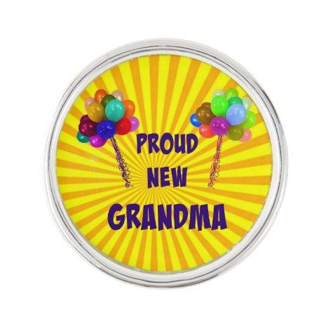 Proud New Grandma Lapel Pin